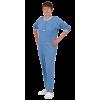 Suprima 4682 - Pflegeoverall Baumwolle/Polyester, Kurzgröße, Bein-RV