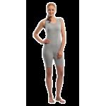 Suprima 4696 - Pflegebody BW/Lycra, ohne Arm, mit kurzem Bein, schräger Rücken-RV