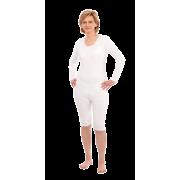Suprima 4699 - Pflegebody Baumwolle/Elastan, Langarm, mit kurzem Bein, Bein-RV weiß