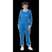 Suprima 4706 - Pflegeoverall Baumwolle/Polyester, lang, Rücken-RV