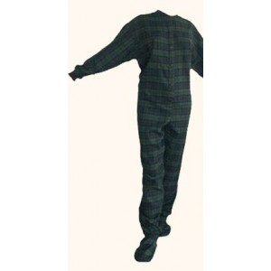 """Flanell - Schlafoverall """"NAVY BLUE AND GREEN"""" LAGERWARE"""