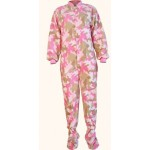 "Fleece - Schlafoverall ""PINK CAMOUFLAGE"" mit Po-Klappe"