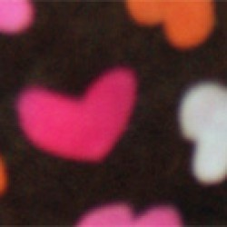 "Fleece - Schlafoverall ""CHOCOLATE BROWN WITH HEARTS"" mit Po-Klappe LAGERWARE"