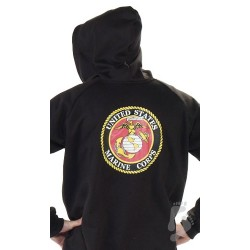 "Fleece - Schlafoverall ""US MARINES"" mit Kapuze - LAGERWARE"