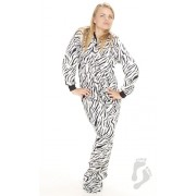 "Fleece - Schlafoverall ""ZEBRA STRIPES"""