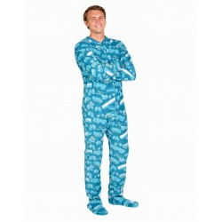 "Fleece - Schlafoverall ""Automotive"" Jumpsuit Einteiler"