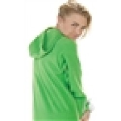 "Fleece - Schlafoverall ""EMERALD GREEN"" mit Kapuze - LAGERWARE"