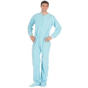 "Fleece - Schlafoverall ""BABY BLUE"" - LAGERWARE"