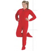 "Fleece - Schlafoverall ""BRIGHT RED"" - LAGERWARE"